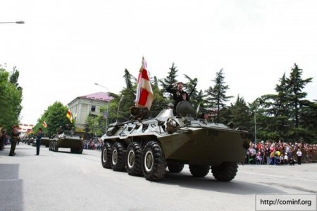 Военный Парад Победы в Южной Осетии. 2014г