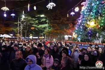 Новогодняя ночь в Цхинвале: большой праздничный концерт и фейерверк