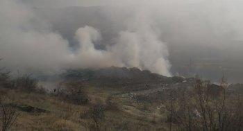 В Цхинвале горит свалка ТБО
