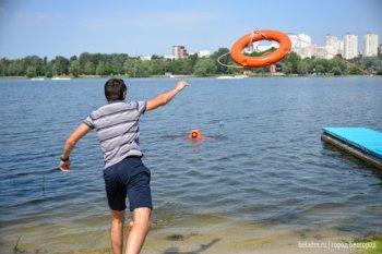 На городском озере появились спасатели